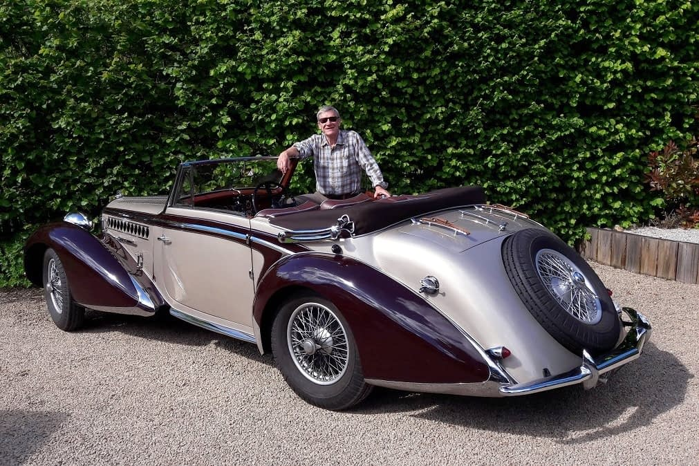 French classic car Talbot Lago T23 Chapron presented by Joel Winter