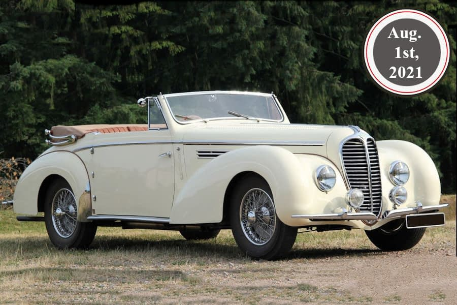 Delahaye 135M Cabriolet by Chapron - For sale in JWA Classic Soft Auctions from Aug. 1st, 2021