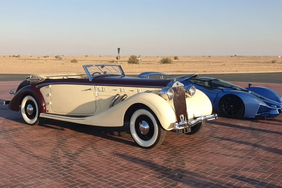 From JWA Classic cars collection: the Delage D8-120 in Dubaï